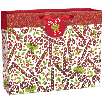 Image de DECOR -  GIFT BAG - EXTRA LARGE VOGUE CHRISTMAS BAG - CANDY CANE