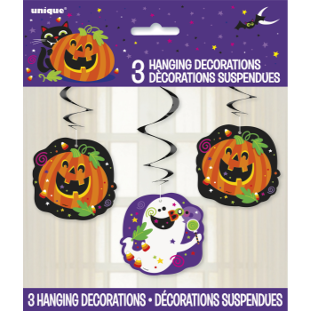 Picture of HALLOWEEN HANGING SWIRL DECORATION