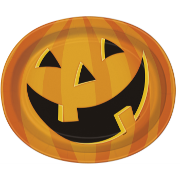 Picture of SMILING PUMPKIN OVAL PLATES