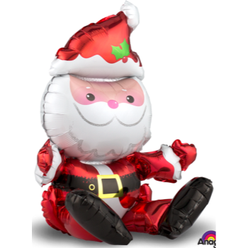 "Image de 21"" TABLETOP - SITTING SANTA FOIL BALLOON - AIR FILLED"