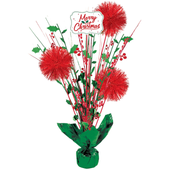 Image de DECOR - MERRY CHRISTMAS TINSEL BURST CENTERPIECE