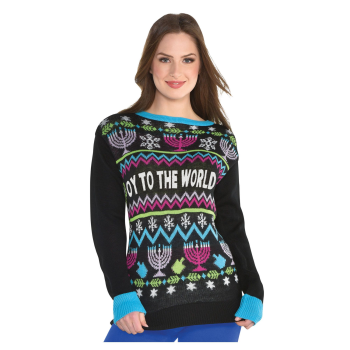 Picture of WEARABLE - HANUKKAH UGLY SWEATER - ADULT SMALL/MEDIUM