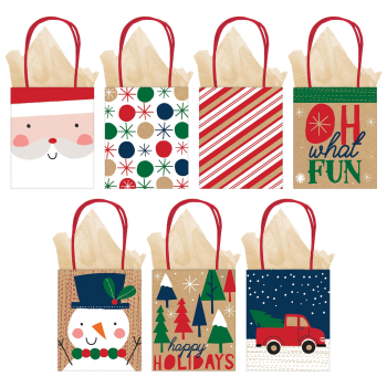 Image de DECOR - GIFT BAG - KRAFT ASSORTED CHRISTMAS BAG