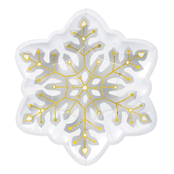 "Image de TABLEWARE - SNOWFLAKE SHAPED 10"" PLATES"