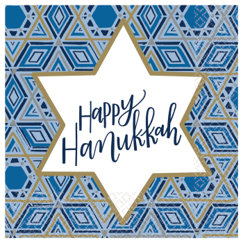 Picture of TABLEWARE - HANUKKAH FESTIVAL OF LIGHTS LUNCHEON NAPKINS