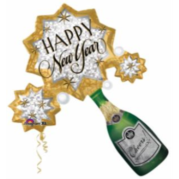 "Picture of 34"" FOIL - BUBBLY NEW YEAR  SUPER SHAPE"