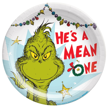 "Image de TABLEWARE - TRADITIONAL GRINCH - 7"" PLATES"