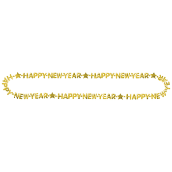 Image de WEARABLES - HAPPY NEW YEAR BEAD NECKLACE - GOLD