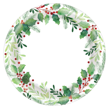 "Image de TABLEWARE - TRADITIONAL HOLLY 10"" PLATES"