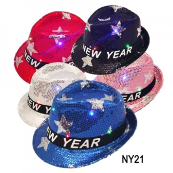 Image de WEARABLES - NEW YEAR LIGHT UP FEDORA HAT