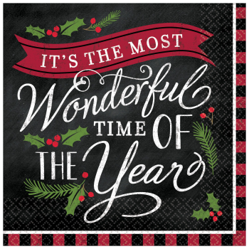 Image de TABLEWARE - MOST WONDERFUL TIME LUNCHEON NAPKINS
