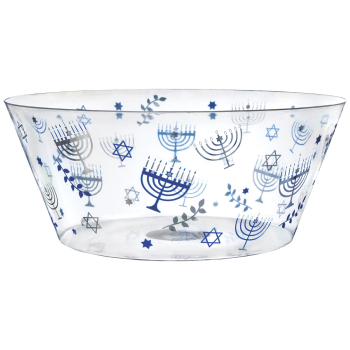 Picture of TABLEWARE - HANUKKAH HOT STAMPED PLASTIC SERVING BOWL