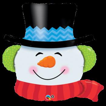 """Image de 36"""" SMILLIN' SNOWMAN SUPER SHAPE"""