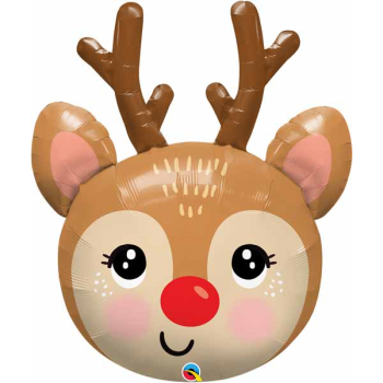 "Image de 35"" - RED NOSED REINDEER HEAD SUPER SHAPE"