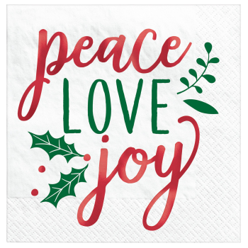 Image de TABLEWARE - PEACE LOVE JOY LUNCHEON NAPKINS