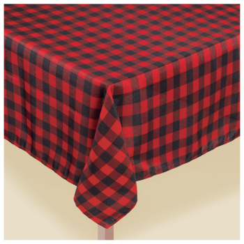 "Image de TABLEWARE - BUFFALO PLAID FABRIC TABLE COVER - 60"" x 104"""