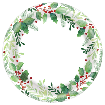 "Image de TABLEWARE - TRADITIONAL HOLLY 9"" PLATES"