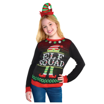 Image de WEARABLES - ELF SQUAD UGLY SWEATER - KIDS SMALL/MEDIUM