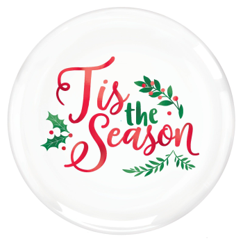 "Image de TABLEWARE - TIS THE SEASON HOT STAMPED PLASTIC - 10"" PLATE"