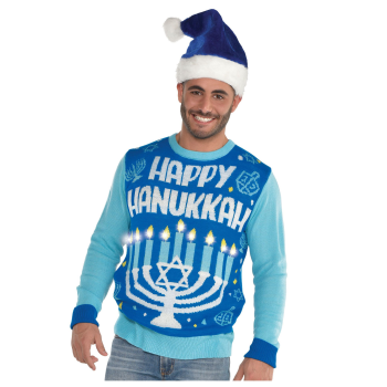 Picture of WEARABLE - LIGHT UP MENORAH UGLY SWEATER - LARGE/XLARGE
