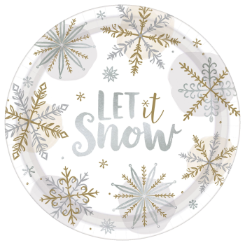 "Image de TABLEWARE - SHINING SNOW 10"" METALLIC PLATES"