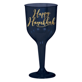 Picture of TABLEWARE - HANUKKAH HOT STAMPED 10oz WINE GLASSES