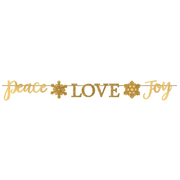 Image de DECOR - PEACE LOVE JOY GLITTER FOIL BANNER