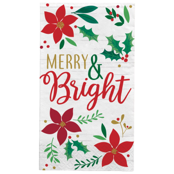 Image de TABLEWARE - CHRISTMAS WISHES - POINSETTIA GUEST TOWEL