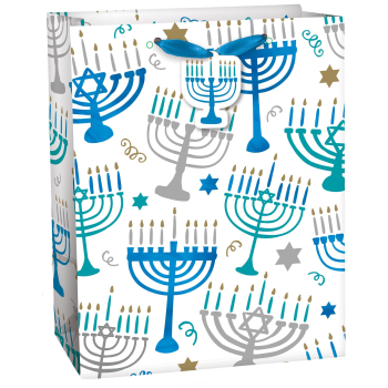 Picture of DECOR - HANUKKAH MENORAH MEDIUM GIFT BAG