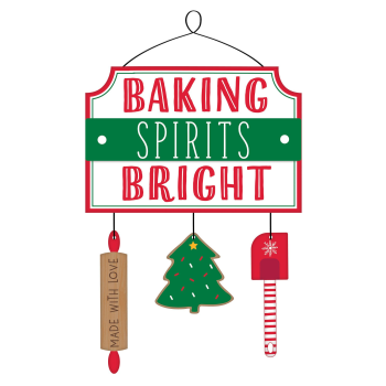 Image de DECOR - BAKING SPIRITS BRIGHT HANGING SIGN