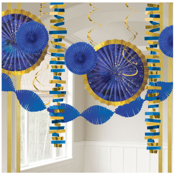 Image de DECOR - MIDNIGHT NEW YEAR EVE PAPER AND FOIL DECORATING KIT