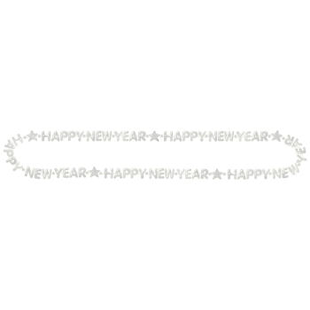 Image de WEARABLES - HAPPY NEW YEAR BEAD NECKLACE - SILVER