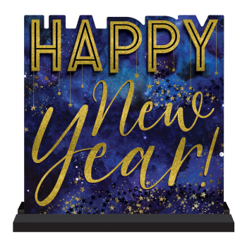 Image de DECOR - MIDNIGHT NEW YEAR EVE STANDING MDF SIGN