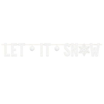 Image de DECOR - LET IT SNOW FELT BANNER