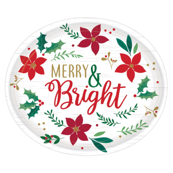 Image de TABLEWARE - CHRISTMAS WISHES MERRY & BRIGHT OVAL PLATE
