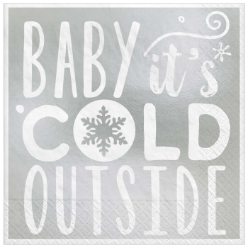 Image de TABLEWARE - BABY IT'S COLD OUTSIDE  BEVERAGE NAPKINS