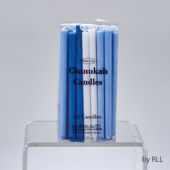 Picture of DECOR - DELUXE CHANUKAH CANDLES - BLUE AND WHITE