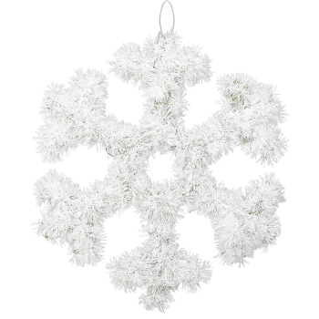 Picture of DECOR - SNOWFLAKE TINSEL HANGING DECORATION