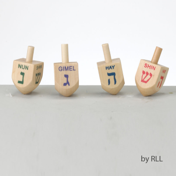 Picture of DECOR - WOODEN DREIDEL