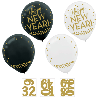 Picture of BALLOONS - NEW YEAR COUNTDOWN 12'' LATEX BALLOONS - 11 COUNT