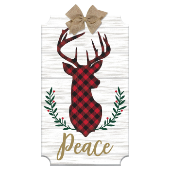 Image de DECOR - LARGE EASEL - DEER HEAD PEACE