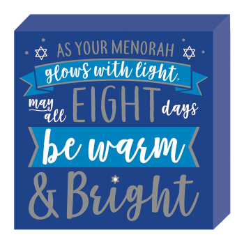 Picture of DECOR - HANUKKAH STANDING PLAQUE