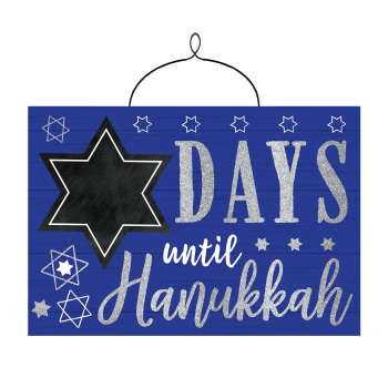 Picture of DECOR - COUNTDOWN TO HANUKKAH HANGING SIGN