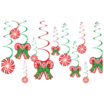 Image de DECOR - CANDY CANE SWIRL DECORATION