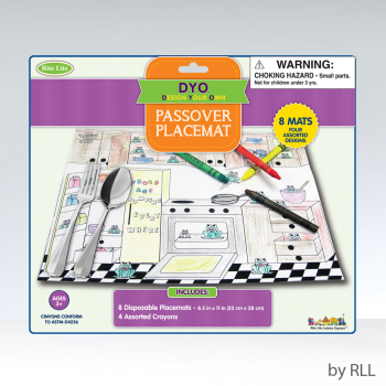 Picture of PASSOVER PLACEMAT WITH CRAYON
