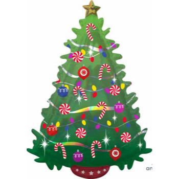 "Image de 36"" - GREEN CHRISTMAS TREE SUPER SHAPE"