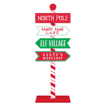 Image de DECOR - NORTH POLE DIRECTIONAL STANDING SIGN