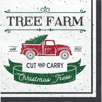 Image de TABLEWARE - TREE FARM LUNCHEON NAPKINS