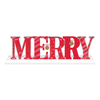 Image de DECOR - MERRY DELUXE STANDING SIGN