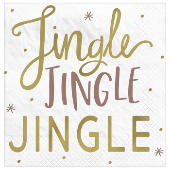 Image de TABLEWARE - JINGLE JINGLE JINGLE BEVERAGE NAPKINS - HOT STAMPED